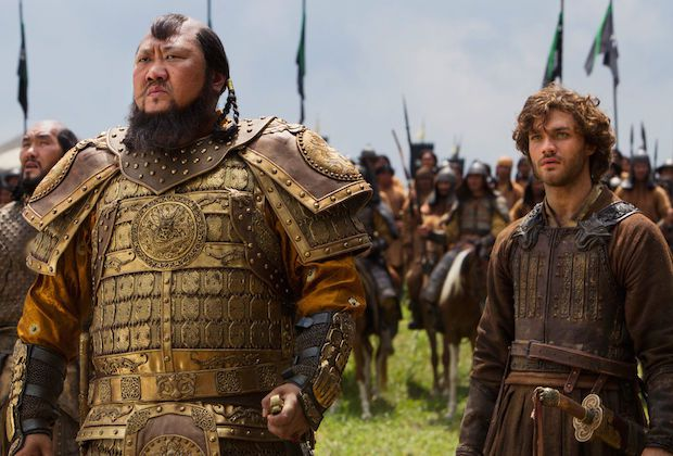 Benedict Wong & Lorenzo Richelmy in the failed, but epic Marco Polo.