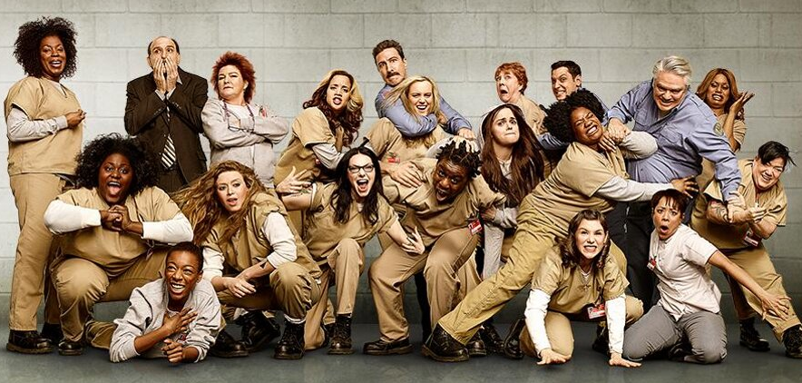 Cast photo from the second season of Orange Is The New Black