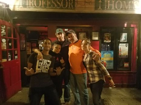 Me, Janice, John ( Co-Owner), Jim ( Owner), Zyanya in front of Professor Thoms.