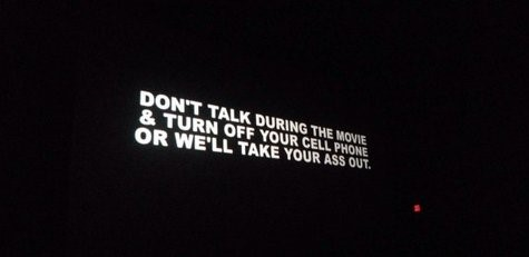 Warning that plays before movie starts.